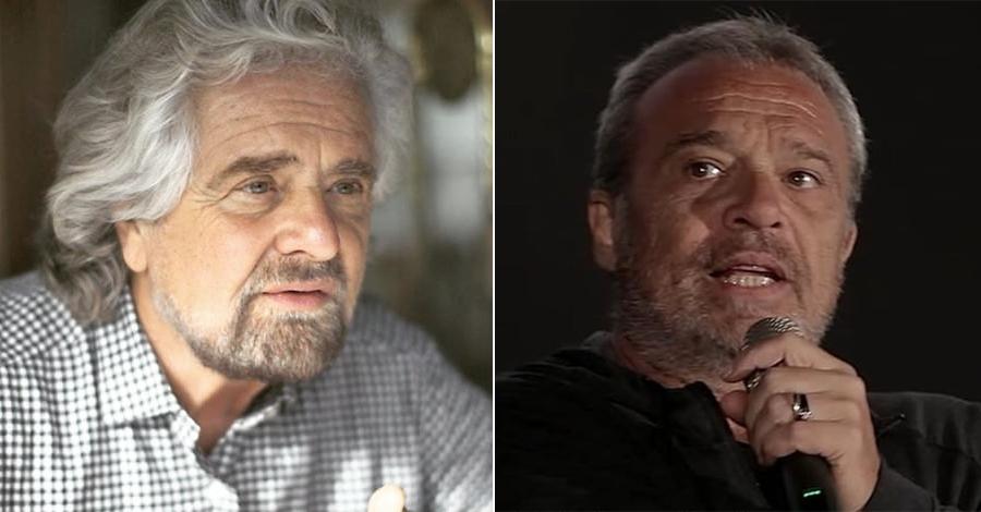 Duro scambio di battute fra Beppe Grillo e Claudio Amendola